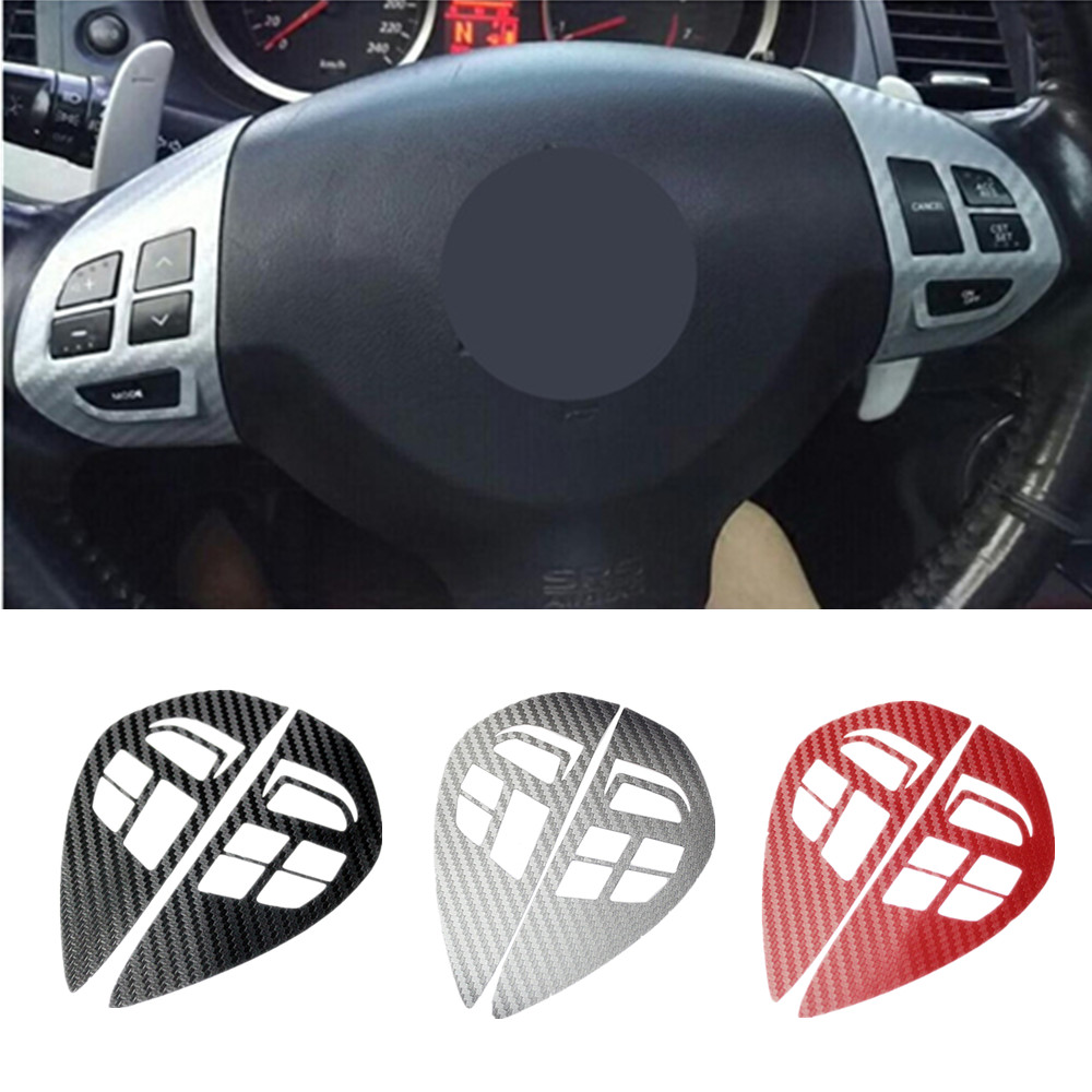 Steering Wheel Switch Button Audio Cruise Control Button Sticker Cover Trim For Mitsubishi ASX Lancer Outlander RVR Pajero Sport