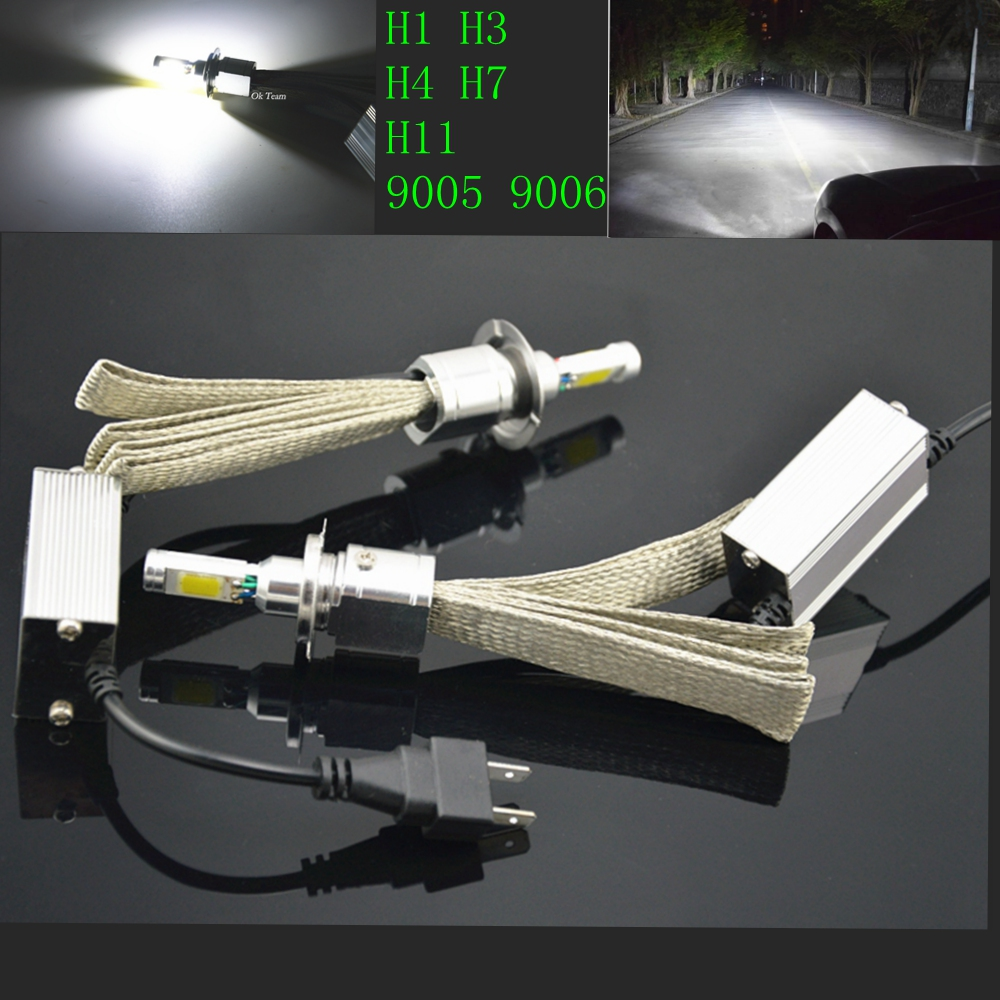 2x H1 H3 H4 H7 H11 LED Head Light 30W60W 6000K 12V/24V 3600/7200LM Car Xenon White Headlight Lamp High Low Kit Globes Bulbs