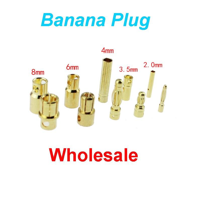10x conector plátanos 2 mm