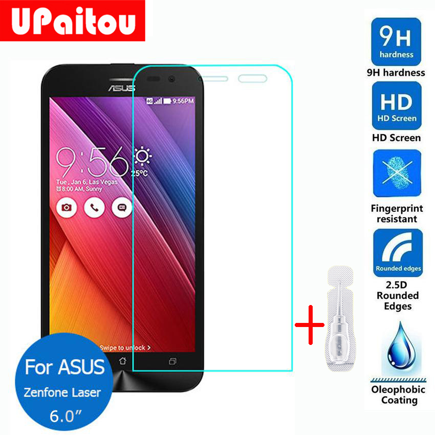 For Asus ZenFone 2 Laser 6.0 Tempered Glass Screen Protector 2.5 9h Safety Protective Film on ZE601KL Dual SIM LTE TW JP