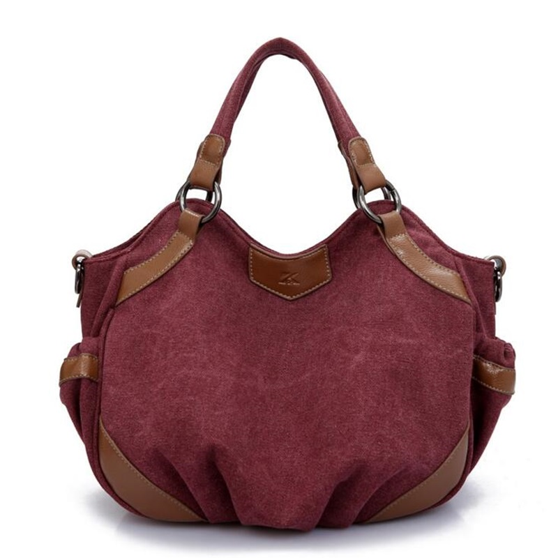 Women Canvas Shoulder Bag Large Capacity Travel Tote Bag Ladies Vintage Hobos Handbags Crossbody Bags For Women Bolsa Feminina fashion women handbags animal peacock printing shoulder bag vintage shopping bag large capacity ladies handbags bolsa feminina