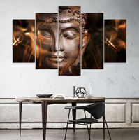 HD Print 5pcs Wall Art Religion Culture Buddha Painting Home Decor Canvas Wall Art Painting For