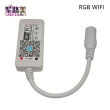 DC12-24V MINI WIFI RGB/RGBW /RGBCW led Timer controller IR RF remote Music By Alexa Google Home Phone
