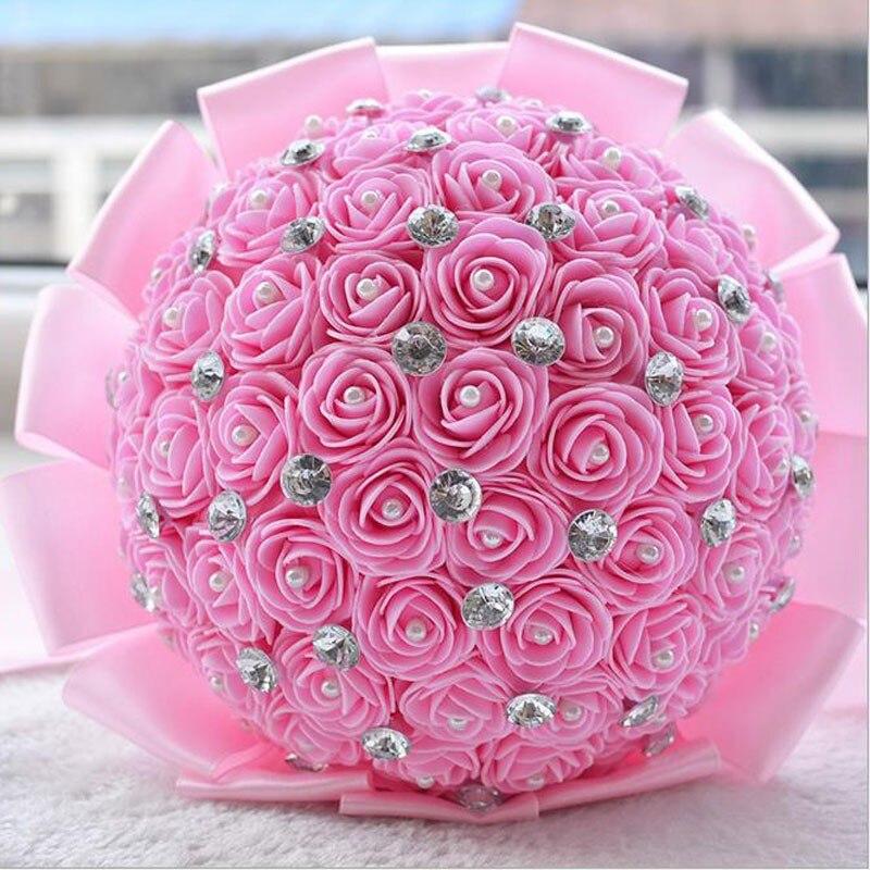 Beautiful Artificial flores de la boda ramos de novia Wedding