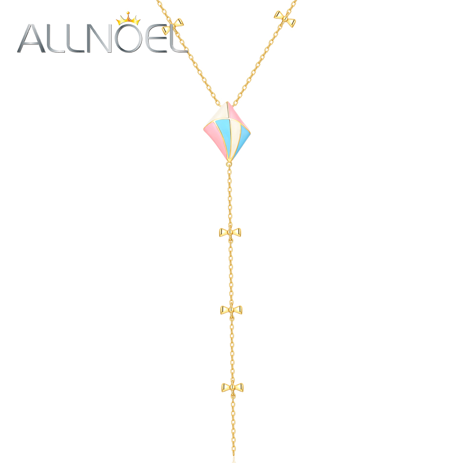 ALLNOEL 2019 Sweater Chain Necklace 925 Silver Sterling Female Pendant Necklaces Handmade Enamel Lariat Valentines Day Present ALLNOEL 2019 Sweater Chain Necklace 925 Silver Sterling Female Pendant Necklaces Handmade Enamel Lariat Valentines Day Present