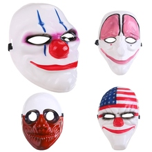 10pcs/lot Dallas/Wolf/Chains/Hoxton Clown Masks for Masquerade Party Scary Clowns Mask Payday 2 Halloween Horrible Mask браслет hoxton