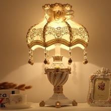 YOOK Princess Styjle Resin Table Lamp Tassel Pendant Lampshade Table Lamp for Living Room Bedroom 220v 110v E27 недорого