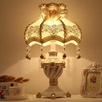 YOOK Princess Styjle Resin Table Lamp Tassel Pendant Lampshade Table Lamp for Living Room Bedroom 220v 110v E27
