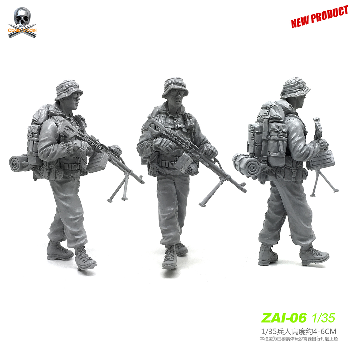 1/35 Resin Soldier  Of Russian Modern Special Forces Model Kits Zai-06