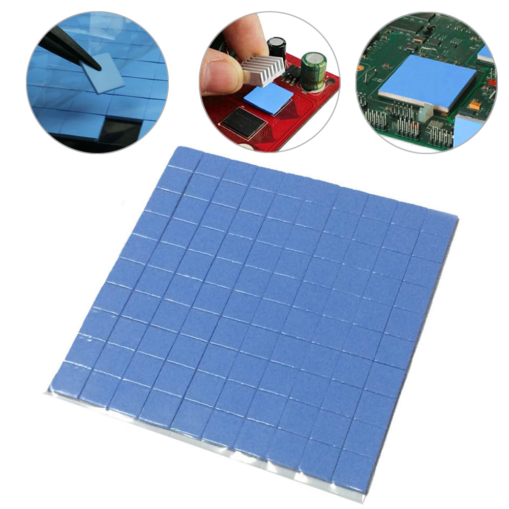 2016 high quality 10mm*10mm*1mm 100 pcs Thermal Pad GPU CPU Heatsink Cooling Conductive Silicone Pad(China)