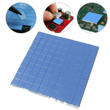 2016 hoge kwaliteit 10mm * 10mm * 1mm 100 stks Thermal Pad GPU CPU Heatsink Cooling Geleidende siliconen Pad(China)