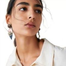 Yhpup Trendy Brand ZA Zinc Alloy Geometric Dangle Earrings Vintage Resin Metal Charm for Female Party Jewelry Oorbellen