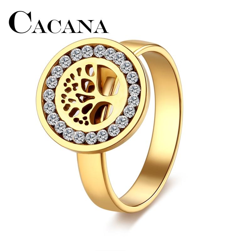 CACANA High Quality Fashion Crystal Tree Classical