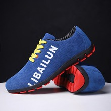 Men Running Shoes Spring Autumn Canvas Sneakers Comfortable Trail Blue Red Sport