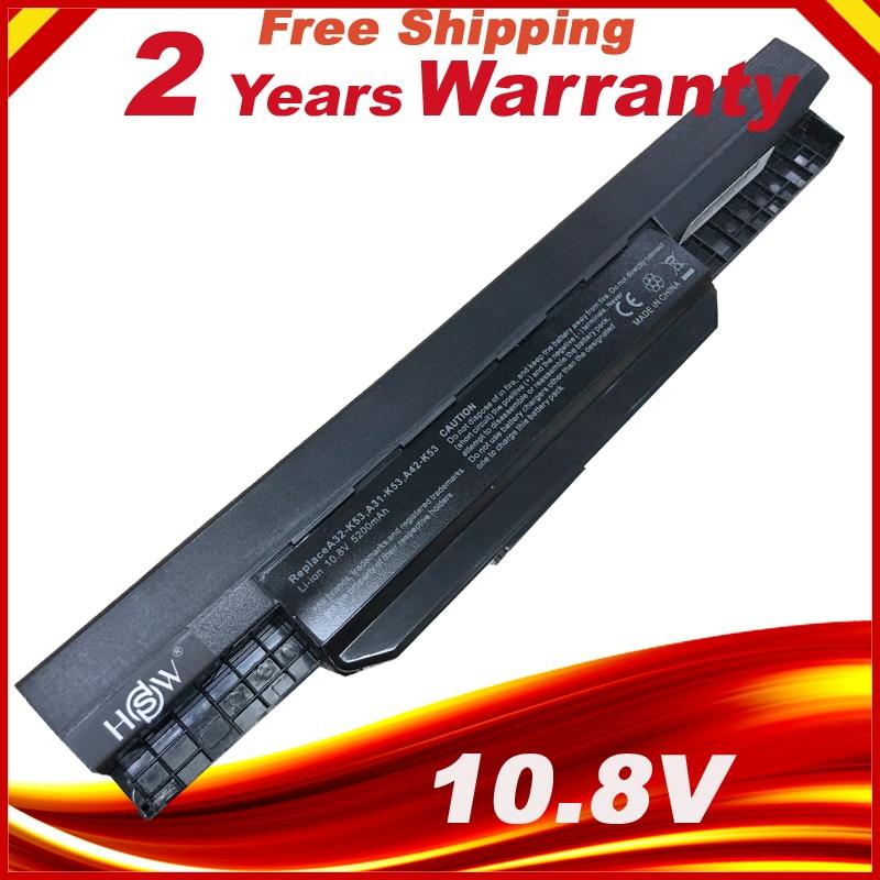 k53u laptop battery for Asus A32 k53 A42-K53 A31-K53 A41-K53 A43 A53 K43 K53 K53S X43 X44 X53 X54 X84 X53SV X53U X53B X54H цена