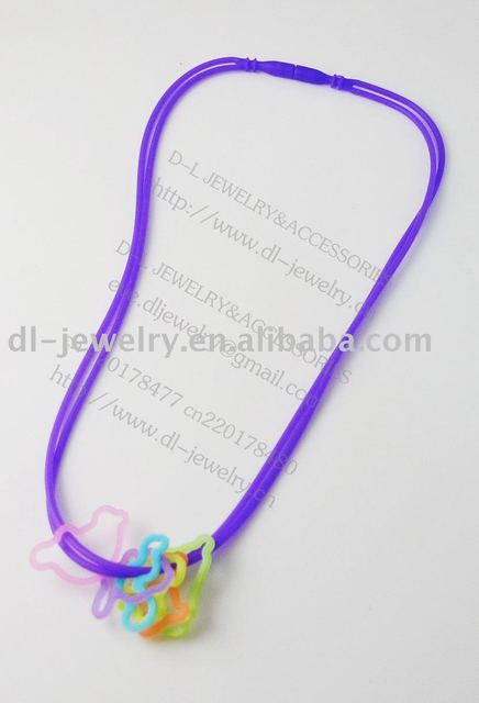 free shipping: hot sell silicone necklace( single color)