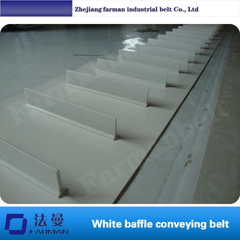 купить PVC PU conveyor belt with profile, attachment, cleat, holes, bar,skirt недорого