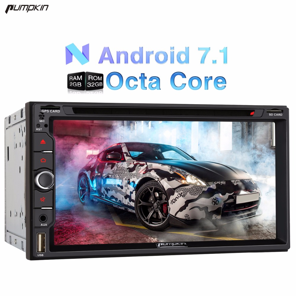 Pumpkin 2 Din 6 95 Android 7 1 Universal Car DVD Player GPS Navigation Qcta core