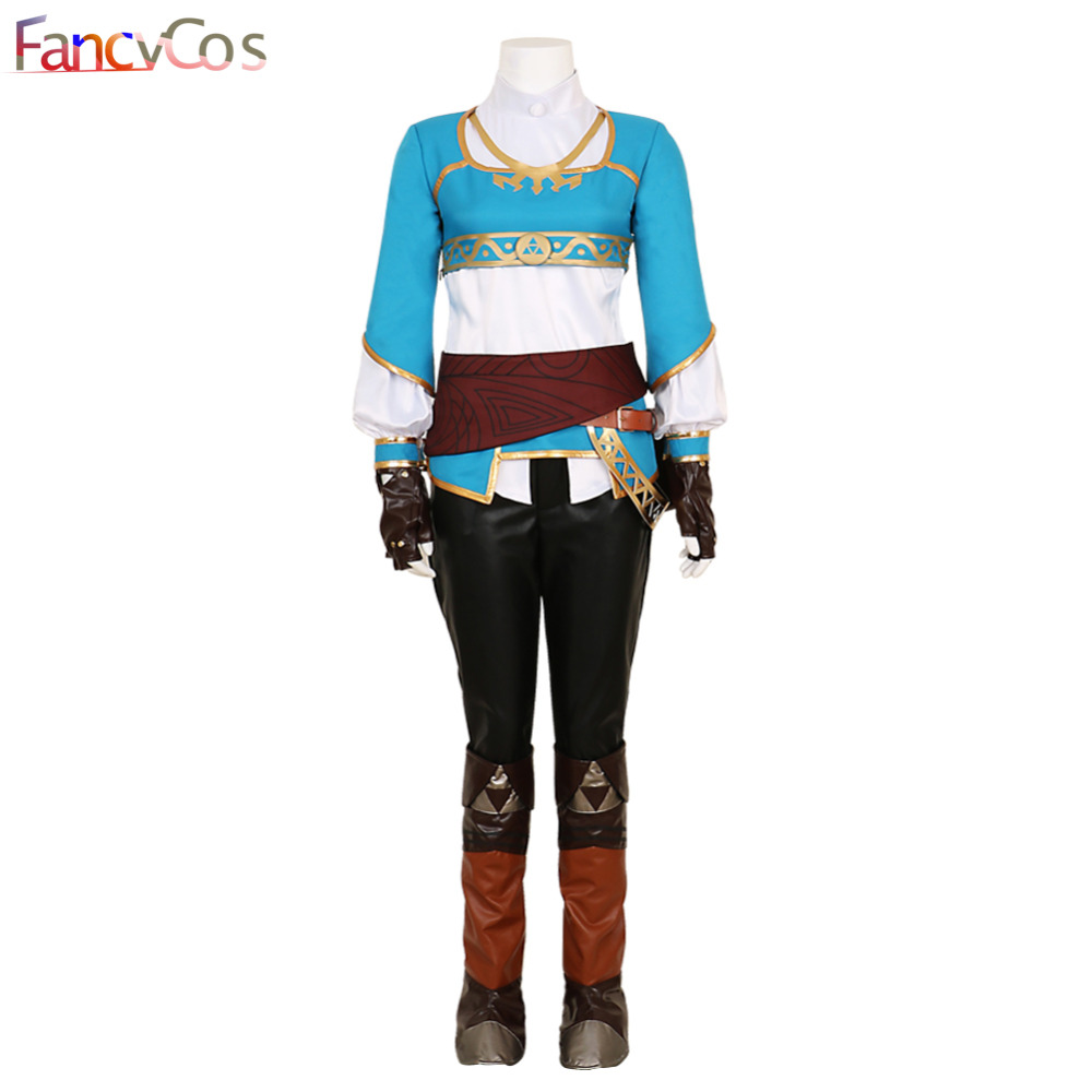 Halloween Women The Legend of Zelda Breath of the Wild Princess Zelda Costume Cosplay Outfit Game Anime Japanese