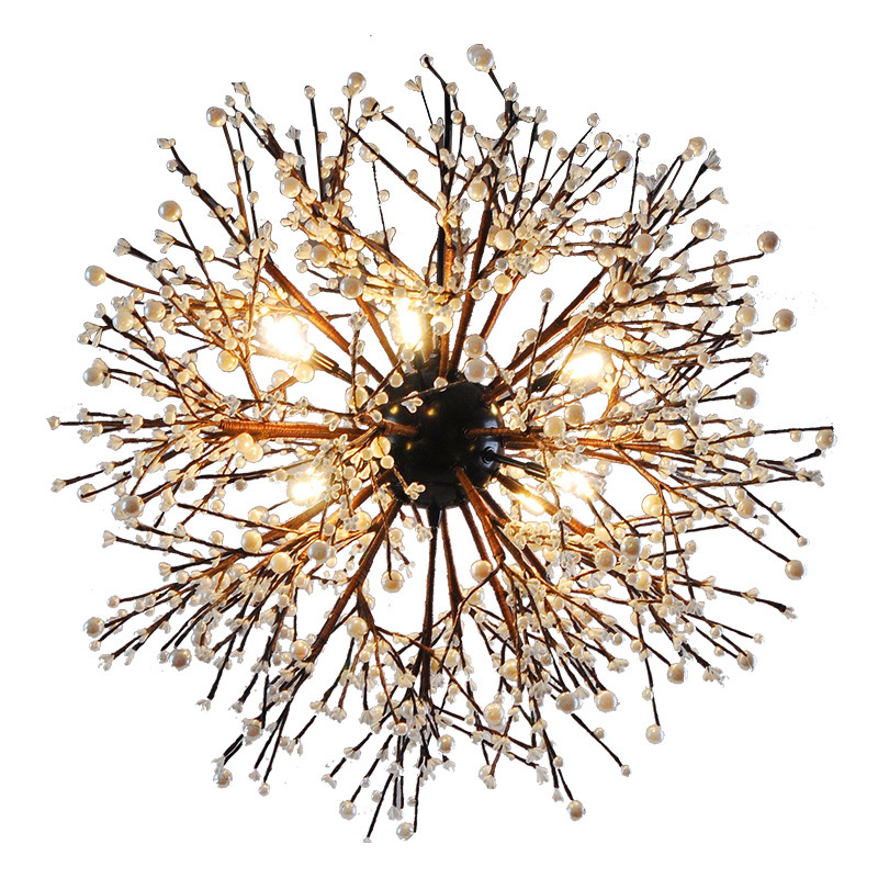 BDBQBL industrie originalité pendentif lumière personnalité Explosion boule pendentif LED lampe AC 110-240 V Couture Loft feu d'artifice Hanglamp
