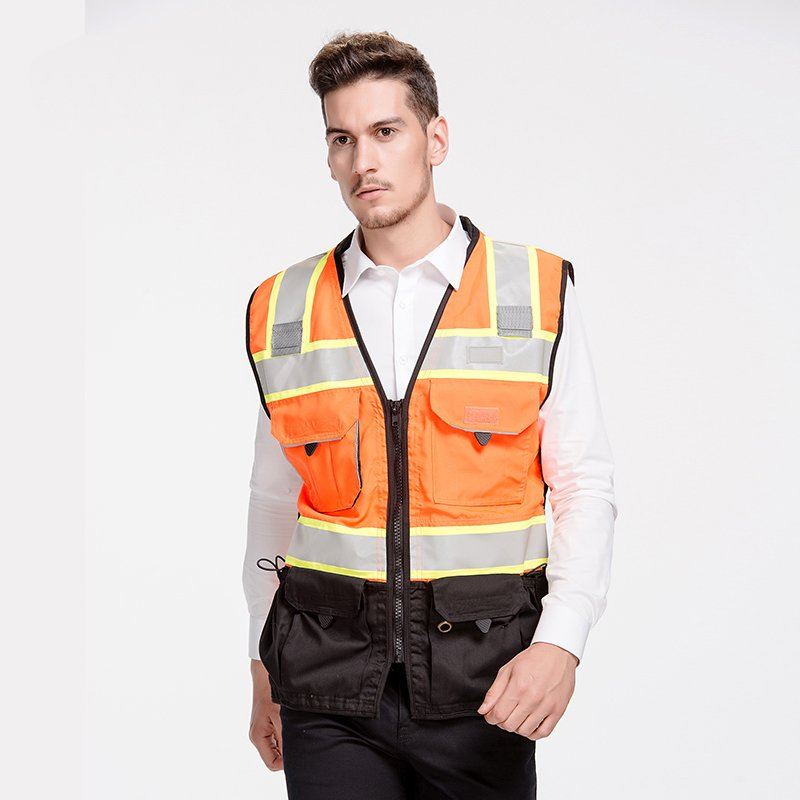Construction Highways riding safety clothing upscale traffic safety vest reflective vest can print vest police luxury construction