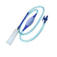 BOYU BY-28 полуавтоматический водный чейнджер для аквариума Ручной Сифон утолщенный пластиковый промыватель песка с фиксатор трубы зажим