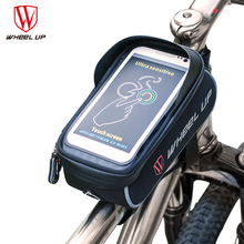 2017 New Bicycle Bag Cycling Bike Frame Front Tube Bag Waterproof Bike Bags for 6.0 inch Touch Mobile Phone bicycle accessories