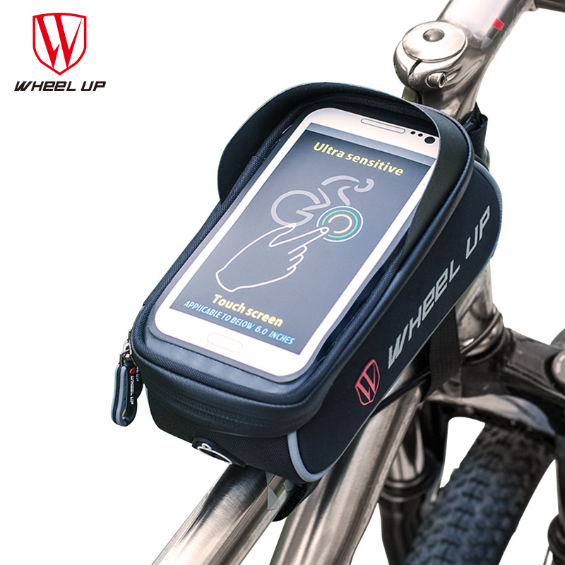 5.0//5.5 Inch 1.5L Waterproof Sports Cycling Bicycle Frame Front Phone Holder Bag