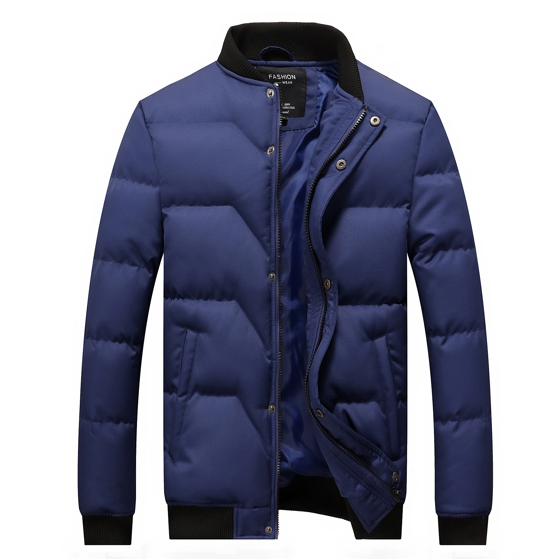 Winter Jacket Men 2020 Brand New Quilted Jackets Stand Collar Cotton Padded Thick Warm Coast For Man Outwear M-4XL