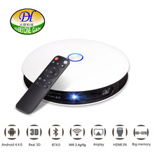 Everyone Gain A08 DLP Projector HD Android 1080P 300-inch Screen 1280 x 720 WiFi 12000mAh Mini Smart Home Cinema 3D Proyector