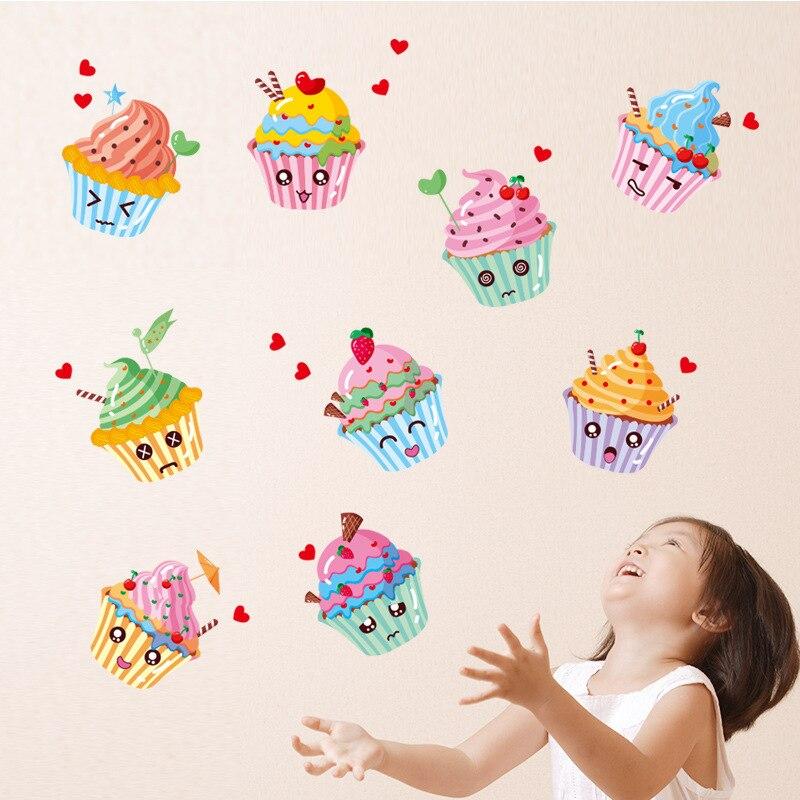 Marke 2017 Wandaufkleber Obst Kuchen Eis Diy Aufkleber Kche Schrank Wohnzimmer Khlschrank Wandbild