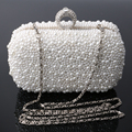 Free shipping 2015 new ladies pearl evening bag clutch bag handbag shoulder bag diagonal package bridesmaid bridal ring package