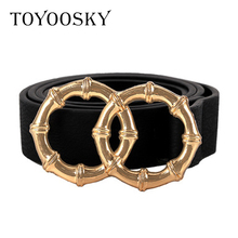 Luxury Women Belts PU Double-Round Alloy Pin Buckle THIN Belt for Jeans Simple All-Match Belt for Female cinturones para mujer