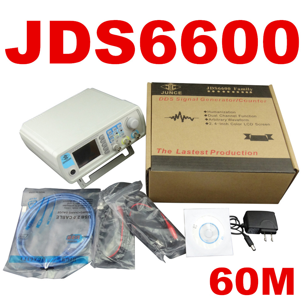 Digital Control JDS6600 MAX 60MHzDual-channel DDS Function Signal Generator frequency meter Arbitrary sine Waveform 40% off купить
