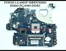 High quality P5WE0 LA-6901P for ACER Aspire 5750 5750G laptop motherboard MBR9702003 HM65 PGA989 DDR3 100% Fully tested