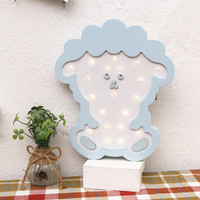 INS Animals Wooden Nightlight Fashion Decorative Light LED Kid Girl Baby Children's Room Decoration Sheep Wall Light IY304123 45