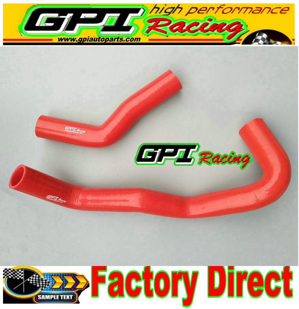 Red For Toyota HILUX 2.4 DIESEL LN65 LN60 LN61 Silicone Radiator Coolant Hose
