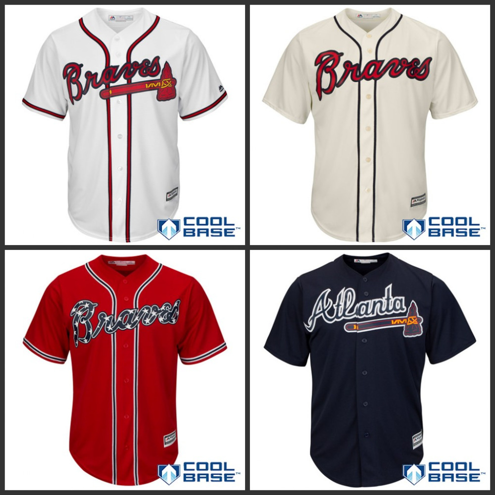 0d3b454a0 Authentic Youth/kids atlanta braves jersey cheap Stitched boys atlanta  braves baseball Jerseys/shirt White/Beige/Red/Blue