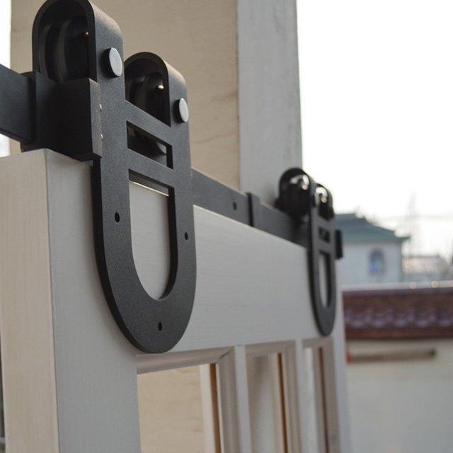 Livraison Bruit Accueil Hôtel Grange Porte Coulissante Piste Kit - Porte coulissante suspendue