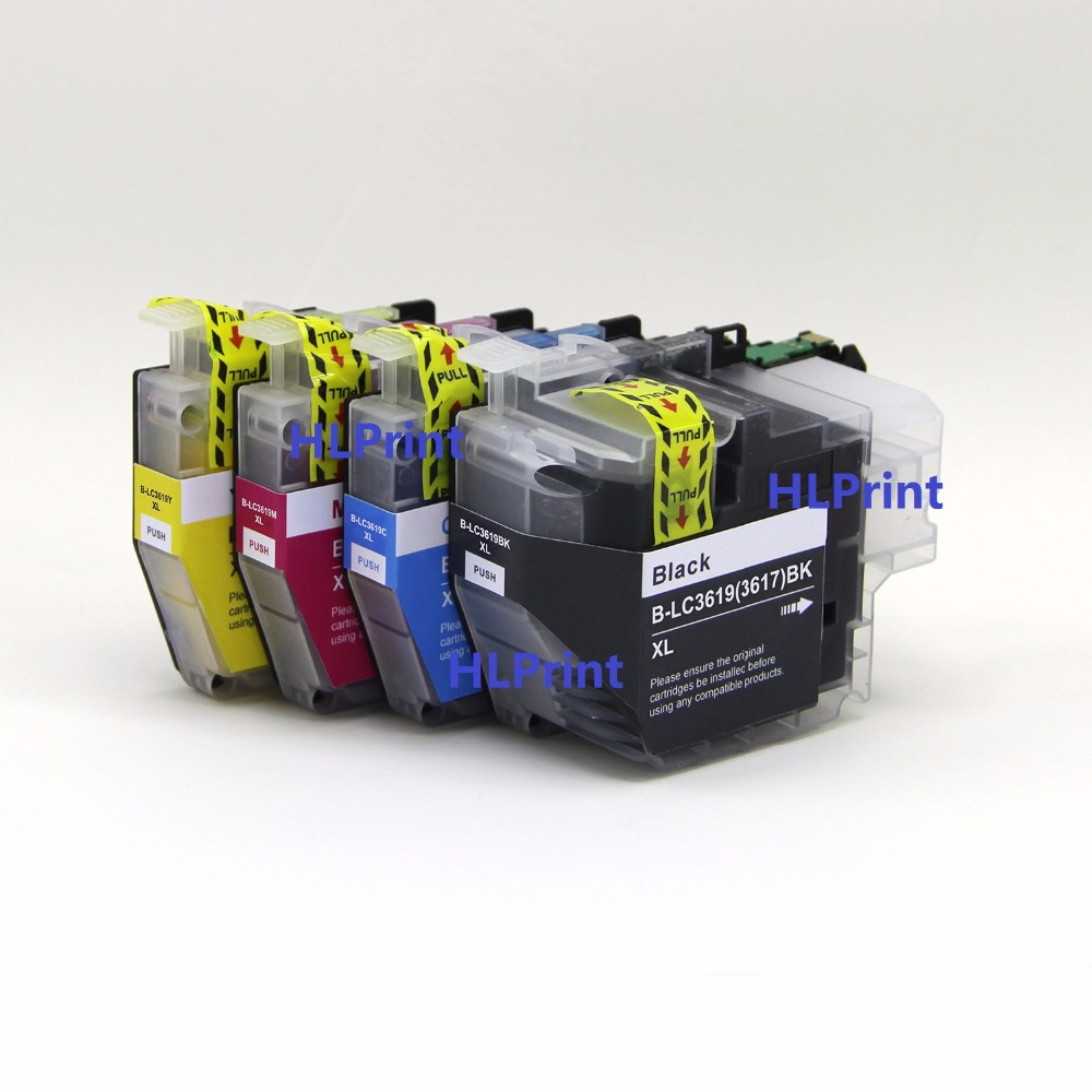 4pcs Compatible ink cartridge Brother LC3619 XXL for MFC-J2330DW MFC-J2730DW MFC-J3530DW MFC-J3930DW 4 pcs lc1240 lc1280 lc75 lc73 lc77 lc79 lc12 lc17 lc450 lc400 compatible inkjet ink cartridge for brother dcp j940n w