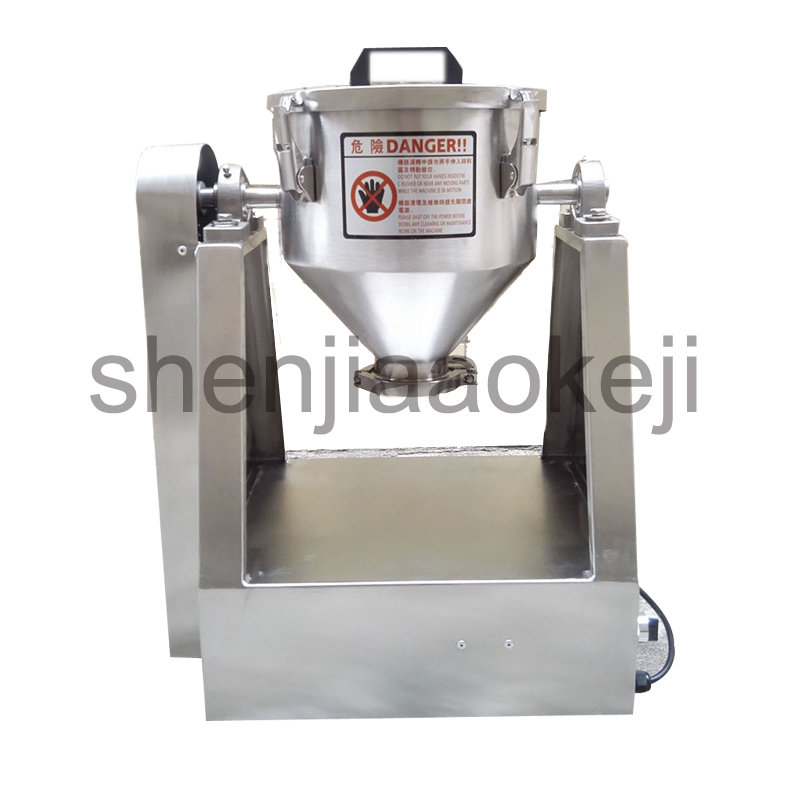 Stainless Steel Multi-functional Mixer Food Mixture Fruit, Feed, Ceramics, Chemicals, Powder Mixer 110v/220v 1PC