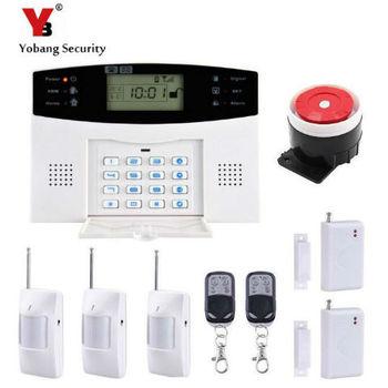 YobangSecurity système d'alarme GSM sans fil | Russe français GSM, clavier LCD, porte fenêtre PIR capteurs d'alarme pour la sécurité à domicile