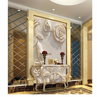 Beibehang Personnalisé Photo mur papier 3d art mural HD blanc rose relief en marbre effet revêtement Home Decor wallpaper For Living chambre