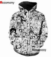 2017 New Funny Anime Ahegao Hoodies 2017 Autumn New Men Women Sexy Sweatshirt Pullovers Shy Girl