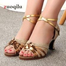 High Heels Women Shoes Ladies Dance Gold Silver Low