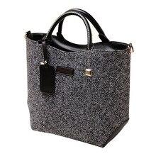 Fashion Klassischen Woolen PU Leder Frauen Tasche Taschen Handtaschen Frauen Umhängetasche Große Vintage Umhängetaschen Bolsa Feminina