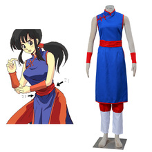 Dragon ball Chichi outfit Cosplay Costume Women Cheongsam For Halloween Party Dress Sets All Size In Stocks