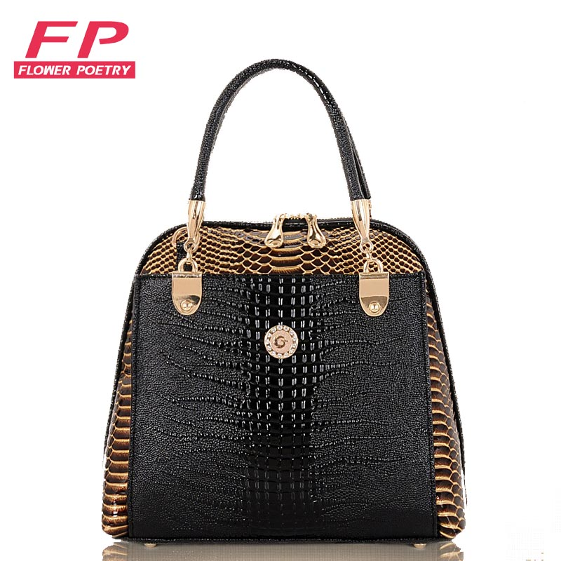 2016 Women Handbag PU Crocodile Leather Crossbody Bags Brand Tote Fashion Women Messenger Bags Clutch Shoulder Bag Bolsas hand