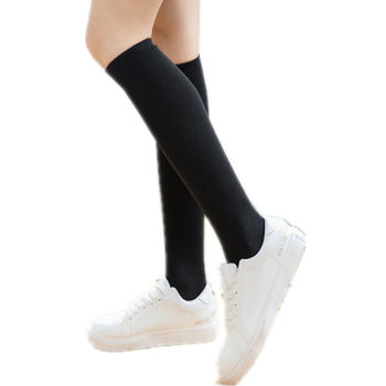 New Kawaii Knee High Socks Women 2020 Women's Long Socks Woman Compression Girls Female Stockings Sexy Black Over The Knee Socks цена 2017