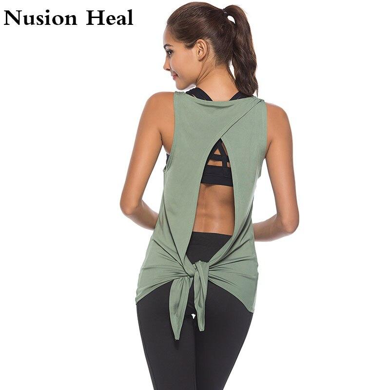 2018 New Women Sports Yoga Tank Tops Dry Quick Yoga Shirts Loose Gym Fitness Sport Sleeveless Vest Singlet For Running Training